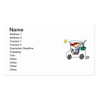 Golfer in Golf Cart Double-Sided Standard Business Cards (Pack Of 100)