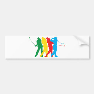 Golfer In Motion Bumper Sticker