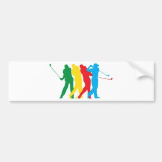 Golfer In Motion Bumper Sticker