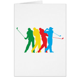 Golfer In Motion Card