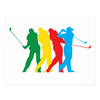 Golfer In Motion Postcard