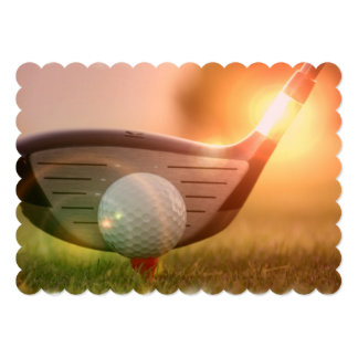 Golfer Personalized Announcements