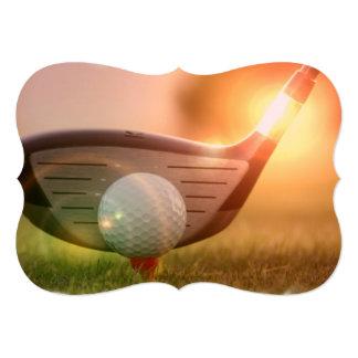 Golfer Custom Invitations