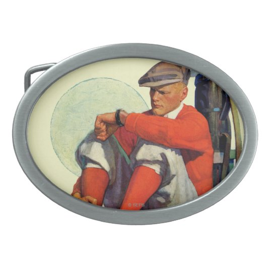 Golfer Kept Waiting Belt Buckle
