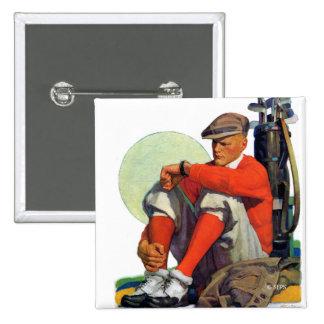 Golfer Kept Waiting Pinback Button
