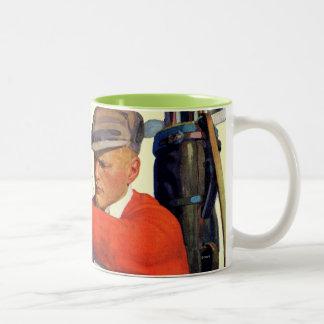 Golfer Kept Waiting Two-Tone Coffee Mug