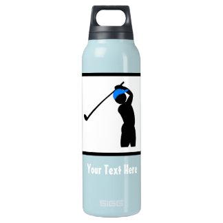 Golfer Logo -- Customizable Insulated Water Bottle