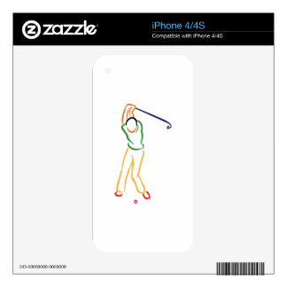 Golfer Outline Decal For iPhone 4