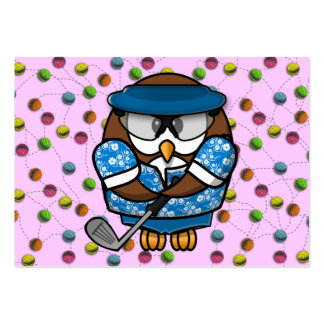 golfer owl large business cards (Pack of 100)