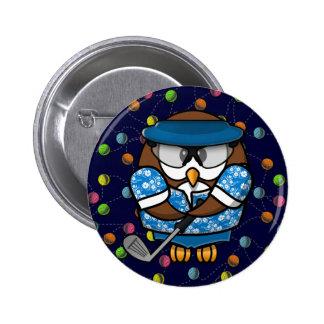 golfer owl pins