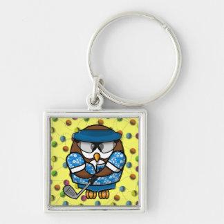 golfer owl keychains