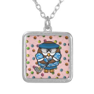 golfer owl custom jewelry