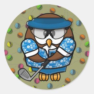 golfer owl sticker