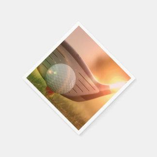 Golfer Paper Napkin
