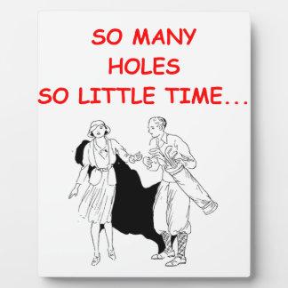 golfer plaque
