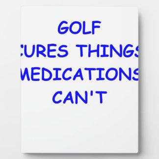 golfer display plaques