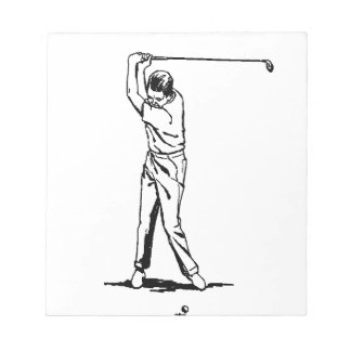 Golfer - Retro Drawing Notepad