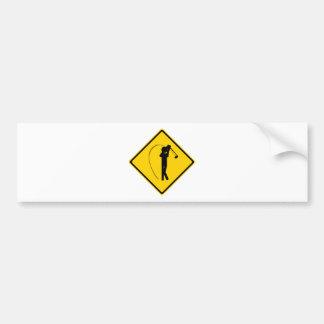 Golfer Road Sign Bumper Sticker