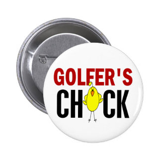 Golfer's Chick 1 Pinback Button