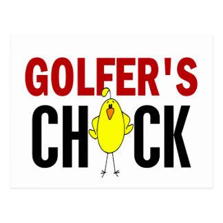 Golfer's Chick 1 Postcard