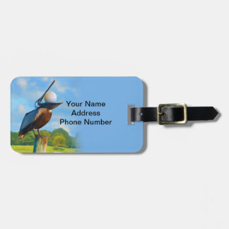 Golfer's Luggage Tag, Pelican and Ball Bag Tag