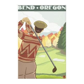 Golfer Scene - Bend, Oregon Canvas Print