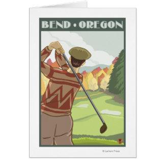 Golfer Scene - Bend, Oregon Greeting Card
