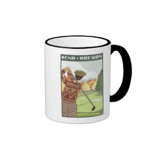 Golfer Scene - Bend, Oregon Mugs