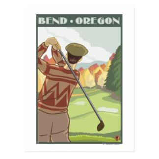 Golfer Scene - Bend, Oregon Postcards