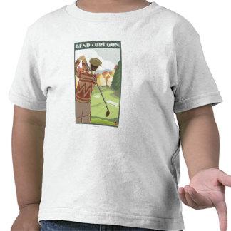 Golfer Scene - Bend, Oregon Tee Shirts