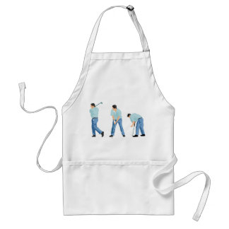 Golfer Sequence Adult Apron