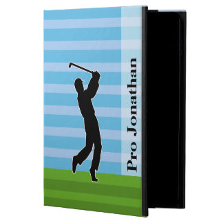 """Golfer Silhouette """"Add Your Name"""" Powis iPad Air 2 Case"""