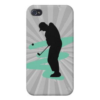 golfer silhouette design iPhone 4 cases