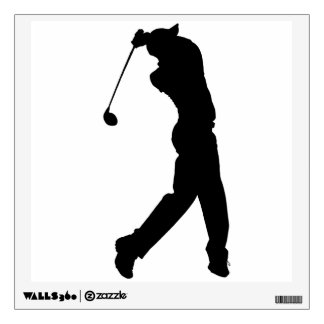 Golfer Silhouette Wall Decal