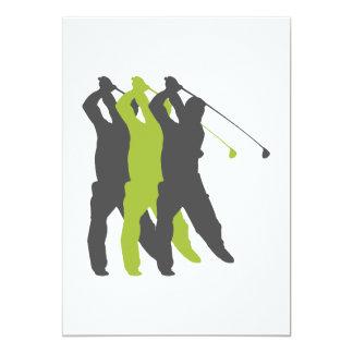 golfer silhouettes golf design card