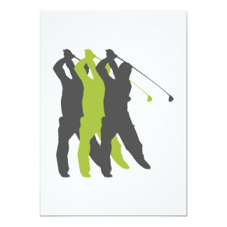 golfer silhouettes golf design announcements