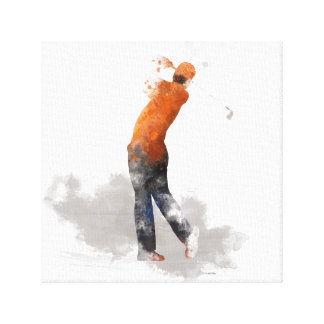 GOLFER - Stretched Canvas Print