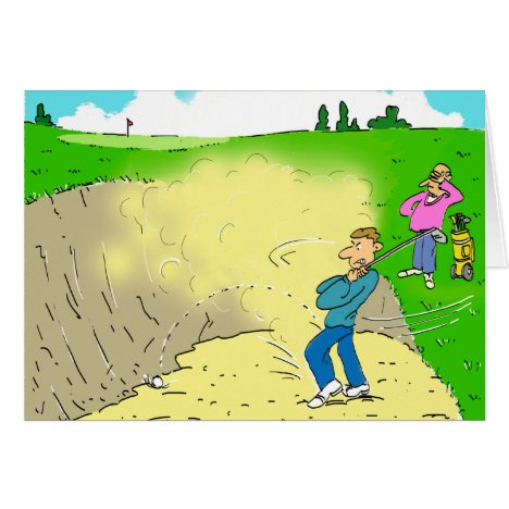 Golfer Stuck in a Bunker Card