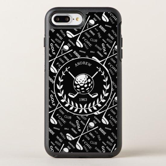 golfer stylish golf logo OtterBox symmetry iPhone 8 plus/7 plus case