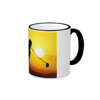 golfer sunset mug