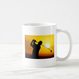 golfer sunset mugs
