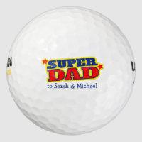 Golfer super dad gift golf balls