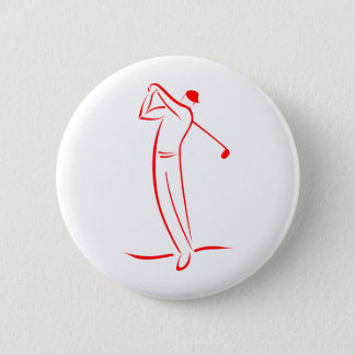 golfer symbol zazzle pinback button