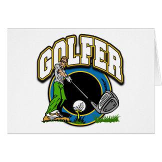Golfer Tee Off Card
