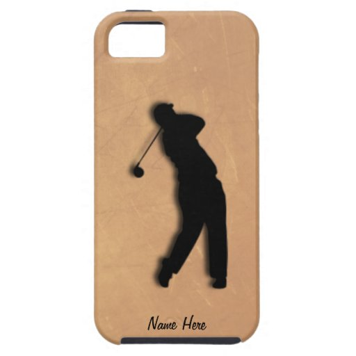 Golfer Tee Off iPhone 5 Personal Case iPhone 5 Cases