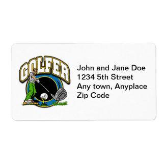 Golfer Tee Off Label