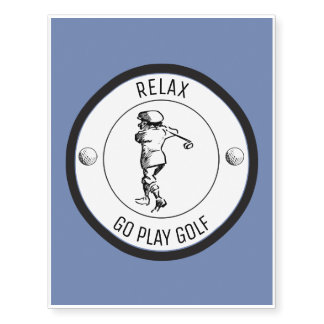 Golfer Temporary Tattoos