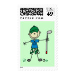 Golfer Tshirts and Gifts Postage Stamps