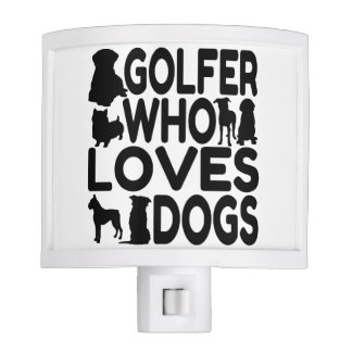 Golfer Who Loves Dogs Night Light