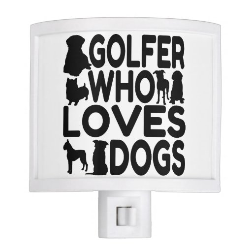 Golfer Who Loves Dogs Night Light
